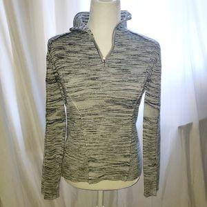 Nils sportswear sparkly half zip sweater size med